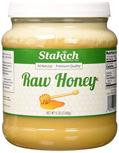 Stakich RAW HONEY - 100% Pure, Unprocessed, Unheated, KOSHER (80 Ounce)