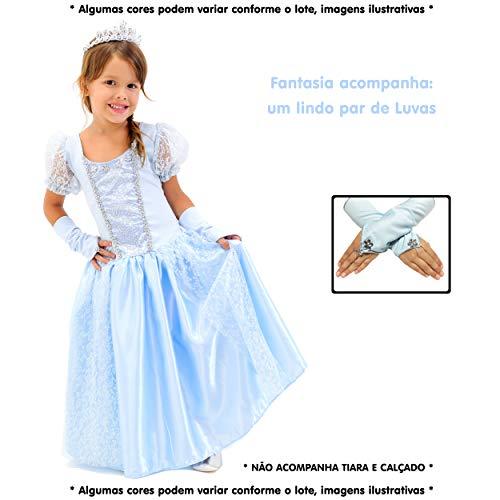 Fantasia Infantil Princesa Frozen com Luvas (P)