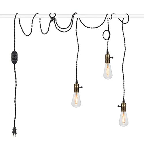 Vintage Pendant Light Kit Cord with Dimming Switch and...