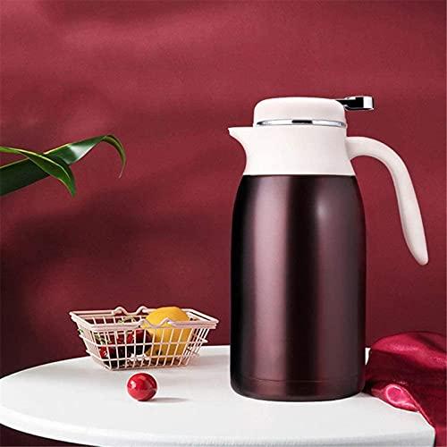 Jarra térmica de café MXCHEN, hervidor de agua caliente y fría de gran capacidad de acero inoxidable doméstico para 12 horas de café y té caliente