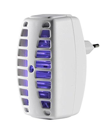 Windhager Insektenvernichter Plug IN & Catch, Insectos, Mosquito Killer, Lámpara UV, sin Veneno ni Productos químicos, 03507, cortésmente, bis zu 30m²