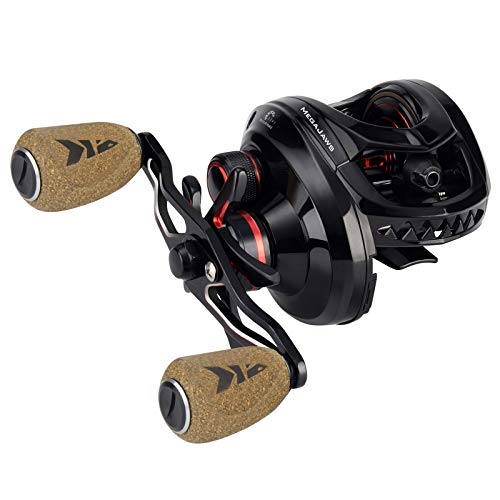 KastKing MegaJaws Baitcasting Reel,7.2:1 Gear Ratio,Right Handed Fishing Reel,Blacktip