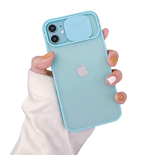 OWM Funda para iPhone 11 antigolpes Funda de Silicona Protectora Negro Satinado [Protector cámaras Deslizante] para iPhone 11 de Apple (2019) - Verde Menta