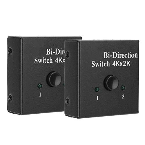 Tomanbery Conmutador bidireccional HDMI Convertidor HDMI Convertidor bidireccional HDMI Conmutador HDMI 2x1 1x2 In out Conveniente operación Simple 2Pcs