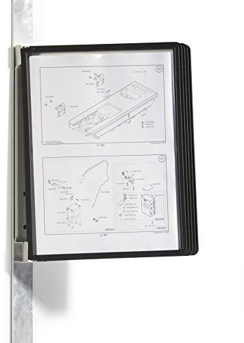 Durable 591401 Sichttafelwandhalter (Vario Magnet Wall 5, mit 5 Sichttafeln A4) schwarz