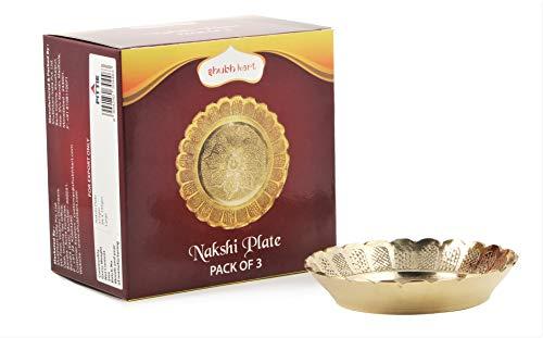3pcs Shubhkart Nakshi Plates