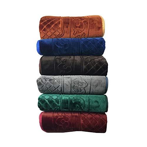 Crown Lot de 3 Tapis de prière Musulmane, Super Doux Extra épais Taille XL 70x110cm très Confortable, (Couleur Mixte Selon disponibilité)