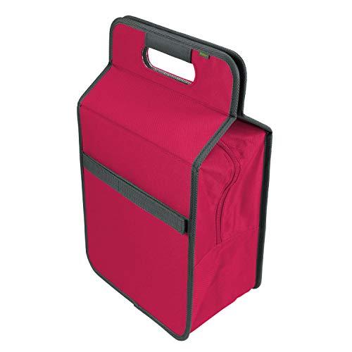 Meori Bolsa isotérmica Plegable de Color Rosa, tamaño L, portátil, para Picnic, Viaje, higiénica, inodora, A100421, de poliéster, con Compartimento para Botellas, 2 Unidades
