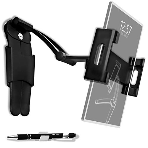 360 tech - Supporto Tablet Telefono/Cellulare Regolabile Universale 2 in 1 da Tavolo o Parete/Muro Porta Smartphone in Alluminio accessori per Samsung , Ipad Air 12,9, Iphone 11-12, Huawei