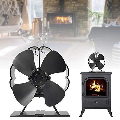 ZDYLM-Y Ventilador para Estufa de Leña, no Requiere batería o Electricidad Ahorro...
