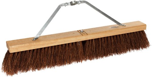 "Weiler 44584 24"" Block Size, Hardwood Block, Palmyra Fill, Contractor Coarse Sweeping Broom,Natural"
