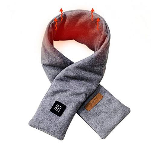 iBaste Braga de cuello con calefacción eléctrica, con USB, ajustable, para mujeres y hombres