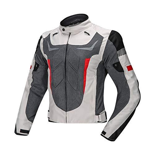 Giacca Giubbotto Moto Uomo Motocicletta Cordura Protezioni CE Tuta da gara,con tuta da motociclista protettiva e anti-caduta,nuovo prodotto 4 stagioni B,XL