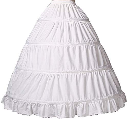 BEAUTELICATE Petticoat Reifrock 100% Baumwolle Unterröcke Lang Vintage Fur Damen Brautkleid Hochzeitskleid Mittelalterliches Viktorianisches Kostüm