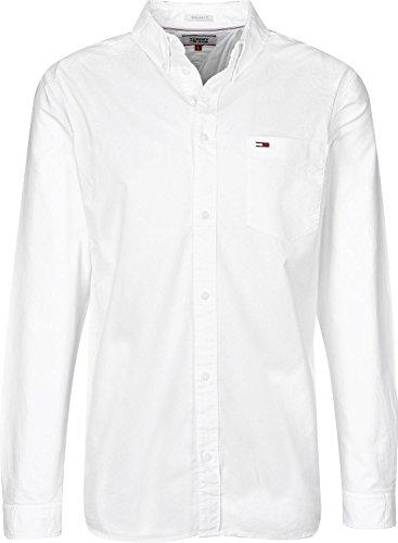 Tommy Hilfiger Tommy Classics Camicia, Bianco (Classic White 100), L Uomo