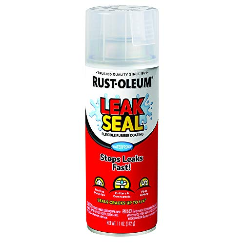 Rust-Oleum 265495 LeakSeal Flexible Rubber Coating Spray, 11 oz, Clear