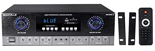 Check Out This Rockville SingMix 3 Rack Mount 3000w Karaoke Amplifier/Mic Mixer+Bluetooth/Echo