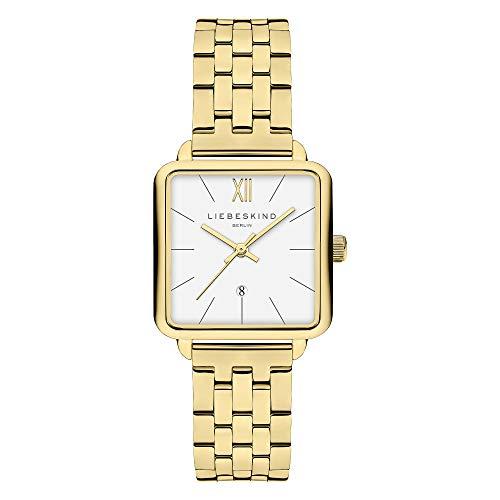Liebeskind Berlin Damen Analog Quarz Uhr mit Edelstahl Armband LT-0177-MQ