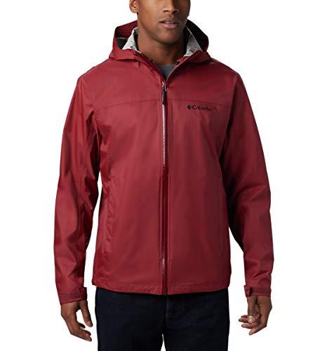Columbia Men's Evapouration Waterproof Jacket, Red Jasper, X-Large