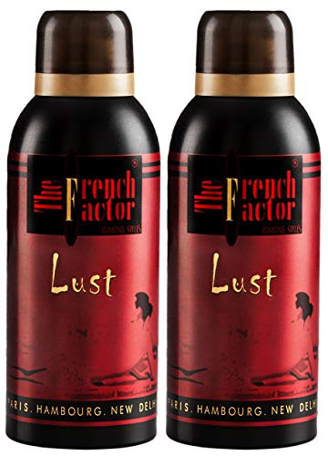 The French Factor Lust Red Deodorant Body Spray For Men, Combo (150ml, Pack of 2)