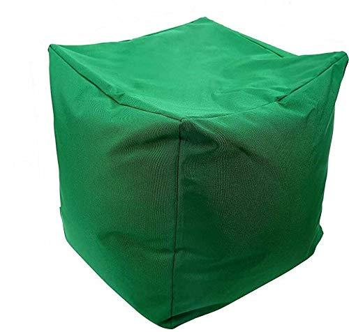 EHD - Puffes impermeables para sala de estar, dormitorio, cocina, patio, puerta, reposapiés y otomanos, color verde oscuro