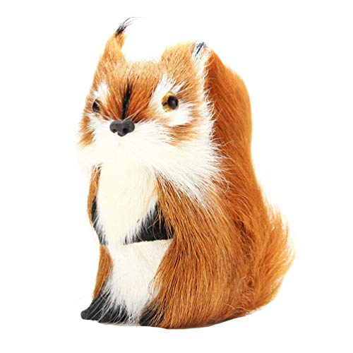 bismarckbeer Simulation écureuil Décoration de Bureau pour fête de Noël Décorations de vitrine