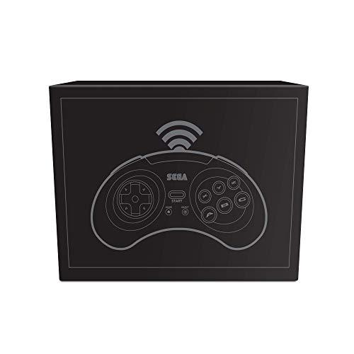 Retro-Bit Official SEGA Mega Drive Wireless Bluetooth Controller 8-Button Arcade Pad for PC, Switch, Mac, Steam, RetroPie, Raspberry Pi - Black