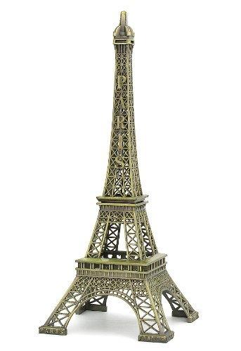 IKASEFU Wisedeal Metal Marvels Torre Eiffel París Francia Figura Replica Mesa Sala Mesa Décor Soporte para Joyas Soporte para Vela de té (15cm)