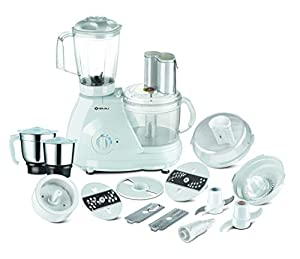 Its in-built locking mechanism ensure consumer safety, The twist and lock mechanism of the processing bowl have to be applied properly in-order to start the food processor Sturdy and powerful 600 watts, 18000 RPM motor, 3 speed control & pulse functi...