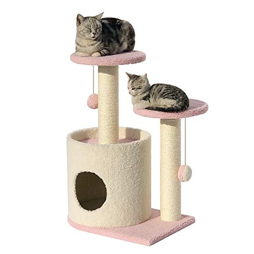 Cat Activity Trees Cat Play Tower Small Cat Climbing Frame Cat Tree Plush Cat Jumping Platform Cat Litter Sisal Cat Tree Scratching Activity Center Play Toy Cat Cave Cat House