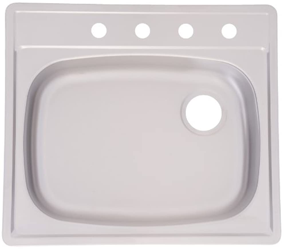 Kindred FPSS604RB Single Bowl Stainless Steel 25 x 22-Inch Top-mount Sink