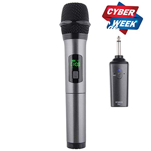 Kithouse K380D Wireless Microphone Karaoke Microphone Wireless Mic System With Rechargeable...