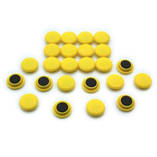 First4magnets F4M20-YELLOW-1 Kleine gelbe Aushang/Planung-Magnet (20mm Durchmesser x 7,5 mm hoch) (1 Packung von 24), silver, 25 x 10 x 3 cm, Stück