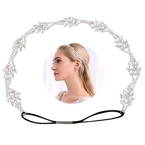 Beaupretty Braut Stirnband Elegent Strass Haarband Hochzeit Haarschmuck Zubehör für Festzüge Proms Geburtstagsparty