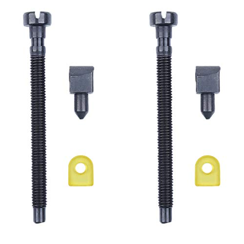 Haishine 2Pc Chain Adjuster Tensioner Screw for Husqvarna 42 44 50 51 55 Rancher 234 238 242 246 133 444 Chainsaw 501537101, 501 54 63 01
