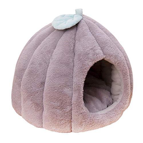 KLIEUWDBAARASRASJ Zusammenklappbare Haustierkatze Hundehüttenhöhle Warmer Welpe Kätzchen Schlafbett Nestkissen Winter Warmer Schlafsack Welpe-Grau, S, Israel