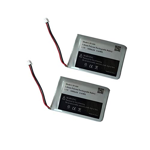 3.7v 1800mAh Battery for PS4 Controller Battery Replacement LIP1522 1000mAh Bateries Pack (Cuh-ZCT2U Battery 2Pack)