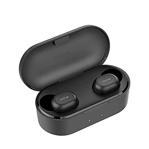 QCY T2C TWS BT Kabellose Kopfhörer mit Dual-Mikrofon, 800 mAh, Ladebox, Stereo, BT Headsets für Sport und Laufen