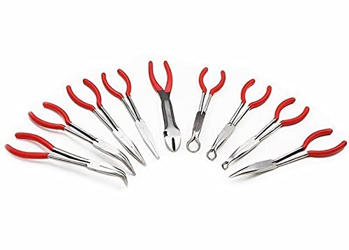 "9pc 11"" Long Nose Plier Set Automotive Shop Tools Tools Tool box Tool kit Wrench set Mechanic tool set Tools for mechanics Home improvement Hand tools Tool boxes Tool sets Tools for men"