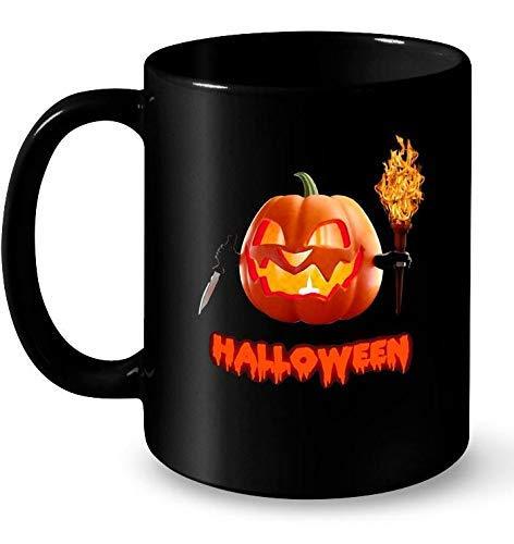 N\A Taza de café Divertida de la Calabaza de Halloween para los Hombres, Las Mujeres y los niños
