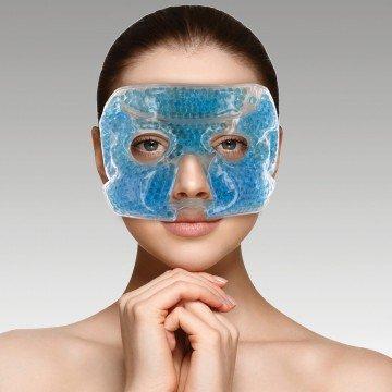 Compresa de Gel para ojos y cara, terapia fria o caliente, mascara de gel para cara y ojos, antifaz Gel frio y caliente