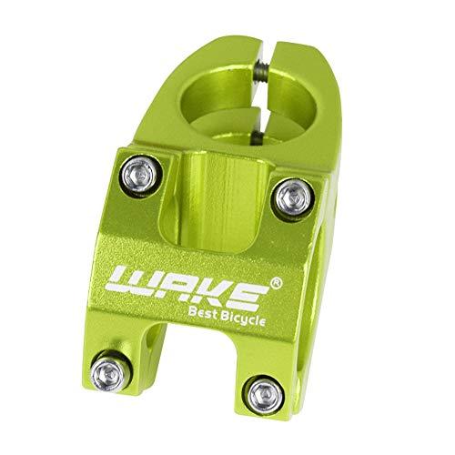 Wake Fahrrad Vorbauten, Aluminiumlegierung Mountainbike Vorbau, Fahrradlenker Vorbau für Die meisten Fahrrad BMX MTB Rennrad 31,8mm 45mm Grün