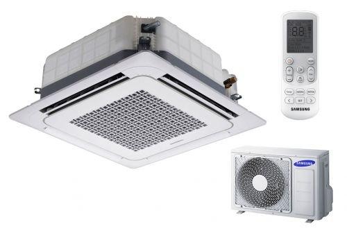 Samsung 4-Wege Deckenkassette Klimaanlage AC035 Klimageräte Set 3,5 kW A++/A+