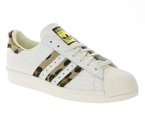 adidas Originals Superstar 80s Animal Schuhe Herren Sneaker Turnschuhe Weiß S78955, Größenauswahl:42 2/3