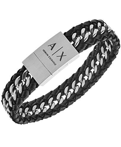 Armani Exchange Braided Leather Chain Bracelet 2