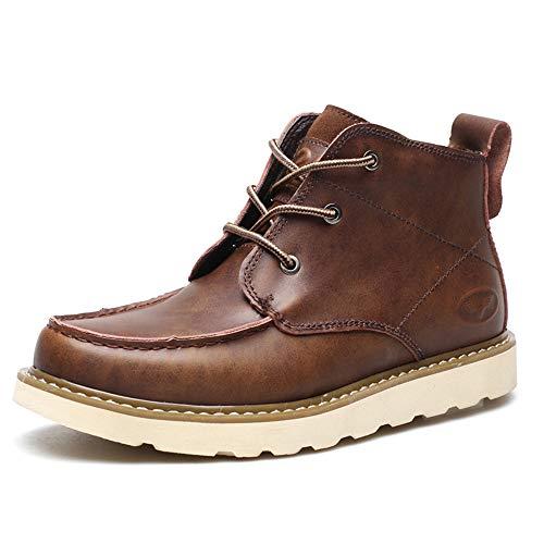 Botines Hombre Otoño Lace Up Botas Cuero Suave Retro Zapato de Trabajo - GENBOOTS (BR43)