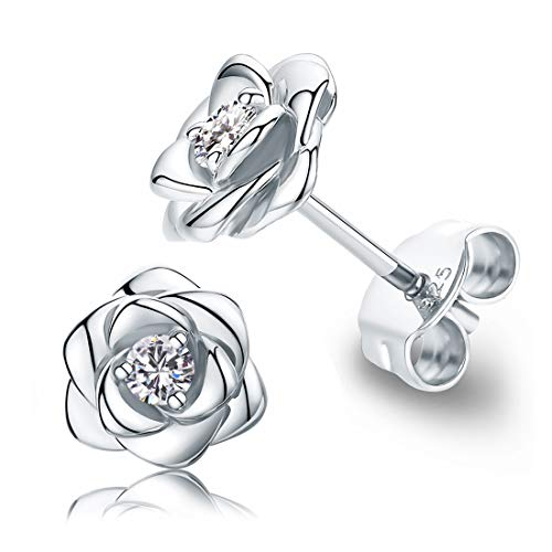 Sterling Silver Rose Earring Studs Nickel Free $12.30 (40% OFF Coupon)