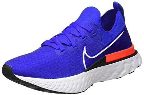 Nike React Infinity Run FK, Scarpe da Corsa Uomo, Racer Blue/White-BRT Crimson-Black, 45 EU
