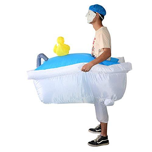 LFDHSF Disfraz de Cosplay Inflable de bañera de Halloween Paseo en bañera Salir con un baño Nadar Disfraz Encantador para Hombre Adulto Interesante