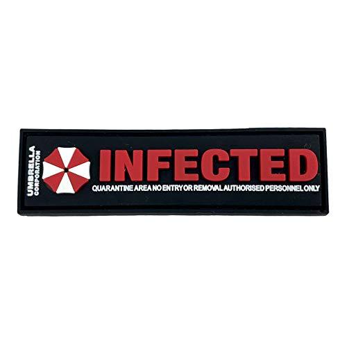 Umbrella Corporation Infected Virus PVC Airsoft Paintball Klettverschluss-Flecken Cosplay Patch